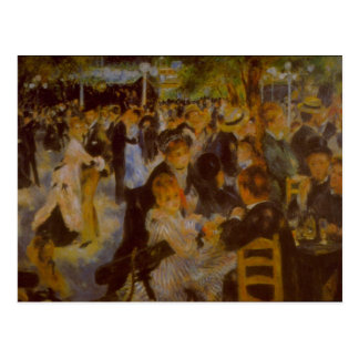 Moulin Galette by Pierre Renoir Postcard