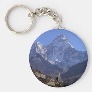 Mount Everest 4 Basic Round Button Key Ring