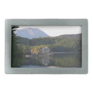 Mount Katahdin from Rainbow Lake Rectangular Belt Buckle
