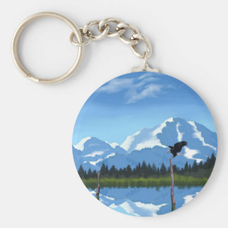 Mount McKinley Alaska Key Ring