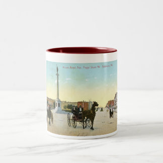 Mount Royal Ave., Baltimore Vintage Two-Tone Coffee Mug