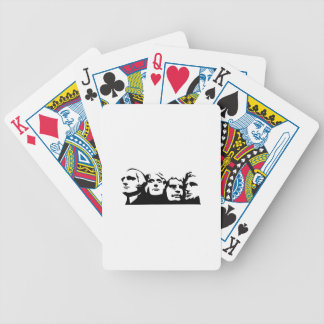 Mount Rushmore Outline Bicycle Playing Cards