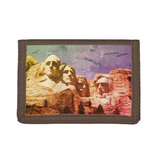 Mount Rushmore Presidential Monument South Dakota Tri-fold Wallet