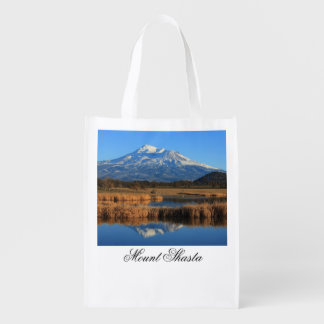 MOUNT SHASTA AND GOLDEN TULLES MARKET TOTE