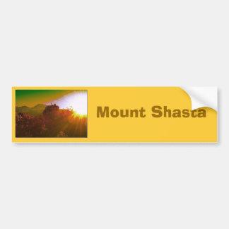 Mount Shasta Car Bumper Sticker