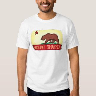 Mount Shasta California guys state flag tee