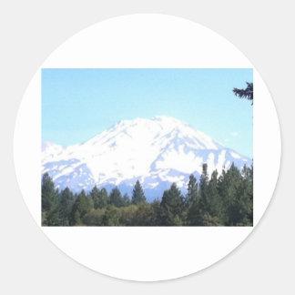 Mount Shasta Classic Round Sticker
