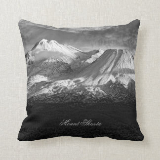 MOUNT SHASTA IN BLACK AND WHITE CUSHIONS