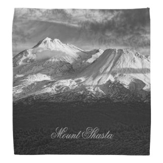 MOUNT SHASTA IN BLACK AND WHITE KERCHIEFS