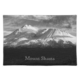 MOUNT SHASTA IN BLACK AND WHITE PLACE MATS
