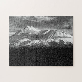 MOUNT SHASTA IN BLACK AND WHITE PUZZLE
