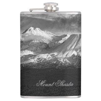 MOUNT SHASTA IN BLACK AND WHITE FLASKS