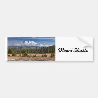 MOUNT SHASTA IN SNOW CAR BUMPER STICKER