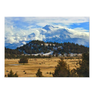 MOUNT SHASTA 5X7 PAPER INVITATION CARD
