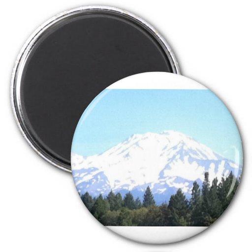 Mount Shasta Fridge Magnet