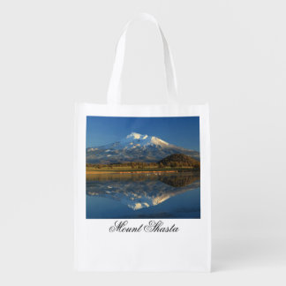MOUNT SHASTA REFLECTED GROCERY BAG