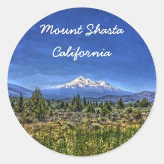 Mount Shasta Round Sticker
