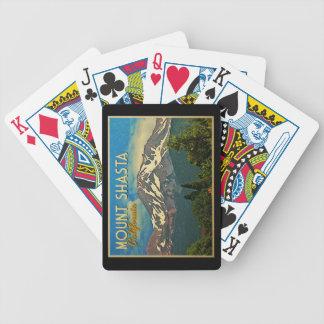 Mount Shasta Vintage Bicycle Poker Cards