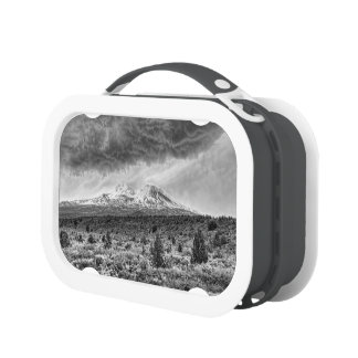 MOUNT SHASTA WITH STORM CLOUDS LUNCH BOXES