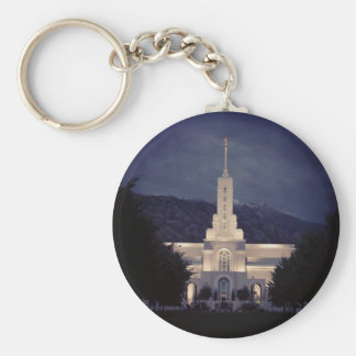 Mount Timpanogos LDS Temple, American Fork, Utah Key Ring