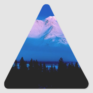 Mountain Above The Clouds Mt Shasta California Triangle Sticker