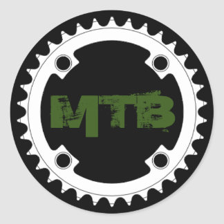 Mountain bike chainring classic round sticker