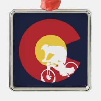 Mountain Bike Colorado Christmas Ornament