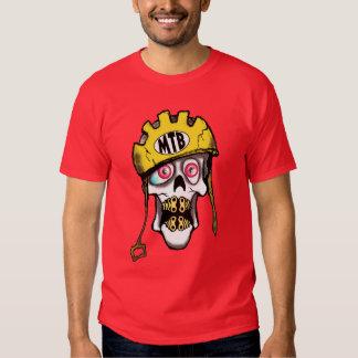 Mountain Bike Skull T Shirts