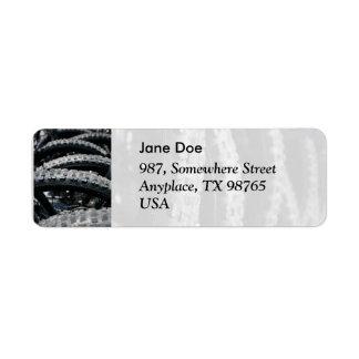 Mountain bike tires return address label