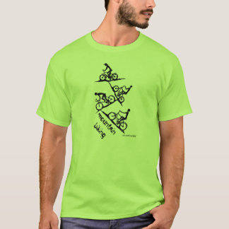 Mountain biking drawing art t-shirt design