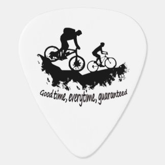 Mountain Biking Good Time Inspirational Quote Plectrum