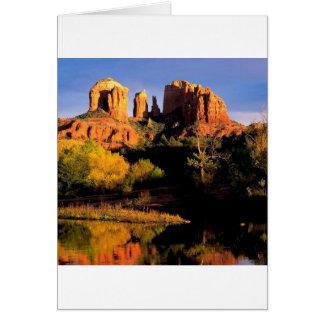 Mountain Cathedral Rock Sedona Arizona Greeting Card