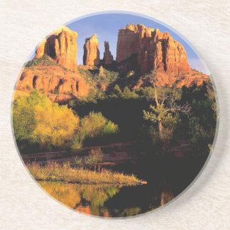 Mountain Cathedral Rock Sedona Arizona Coaster