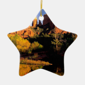 Mountain Cathedral Rock Sedona Arizona Christmas Tree Ornament