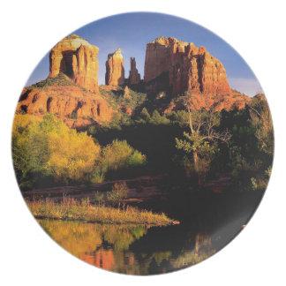 Mountain Cathedral Rock Sedona Arizona Party Plates