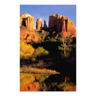 Mountain Cathedral Rock Sedona Arizona Stationery Design