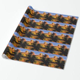 Mountain Cathedral Rock Sedona Arizona Wrapping Paper