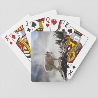 Mountain Goat on Gunsight Pass Playing Cards