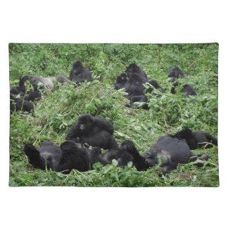 Mountain gorilla group placemat