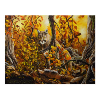 Mountain Lion painting on customizable products Postcard