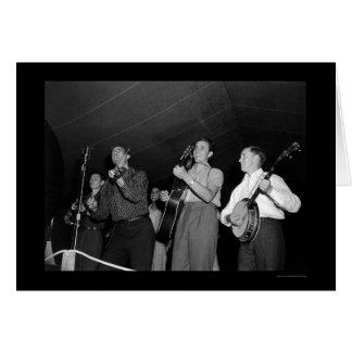 Mountain Music Festival in Asheville, NC 1938 Card