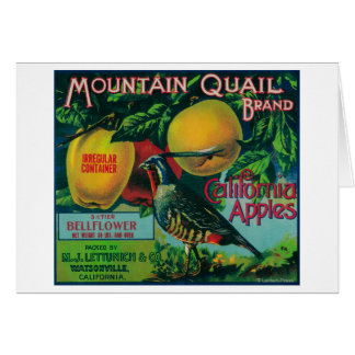 Mountain Quail Apple Crate Label Cards