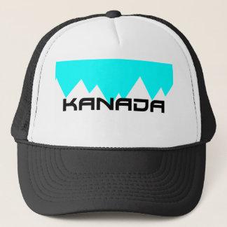 mountain scene hat