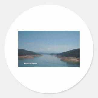 mountain shasta pic round sticker