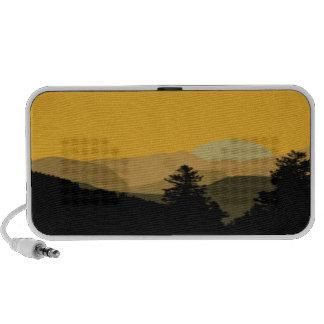Mountain Sunset Laptop Speakers