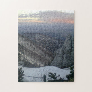 Mountain view before sunset jigsaw puzzle