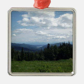 Mountain View Christmas Ornament