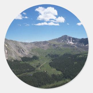 Mountain View Classic Round Sticker
