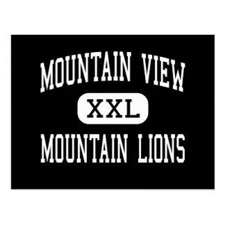 Mountain View - Mountain Lions - High - Tucson Postcard