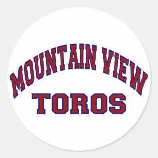 Mountain View Toros Classic Round Sticker